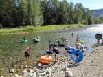 19 Schwimmreifenvergnügen auf dem Chewuch River 2