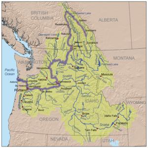 Verlauf Columbia River