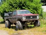 aufgemotzter Pickup-Truck 01